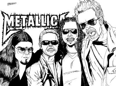 Desenho do Metallica