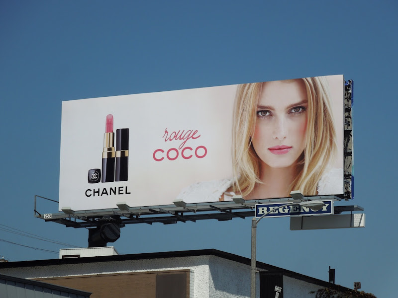 Chanel Rouge Coco makeup billboard