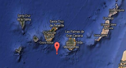 terremoto sentido en san Mateo, Agaete puerto de las Nieve, Gran Canaria, y la Orotava Tenerife 6 octubre