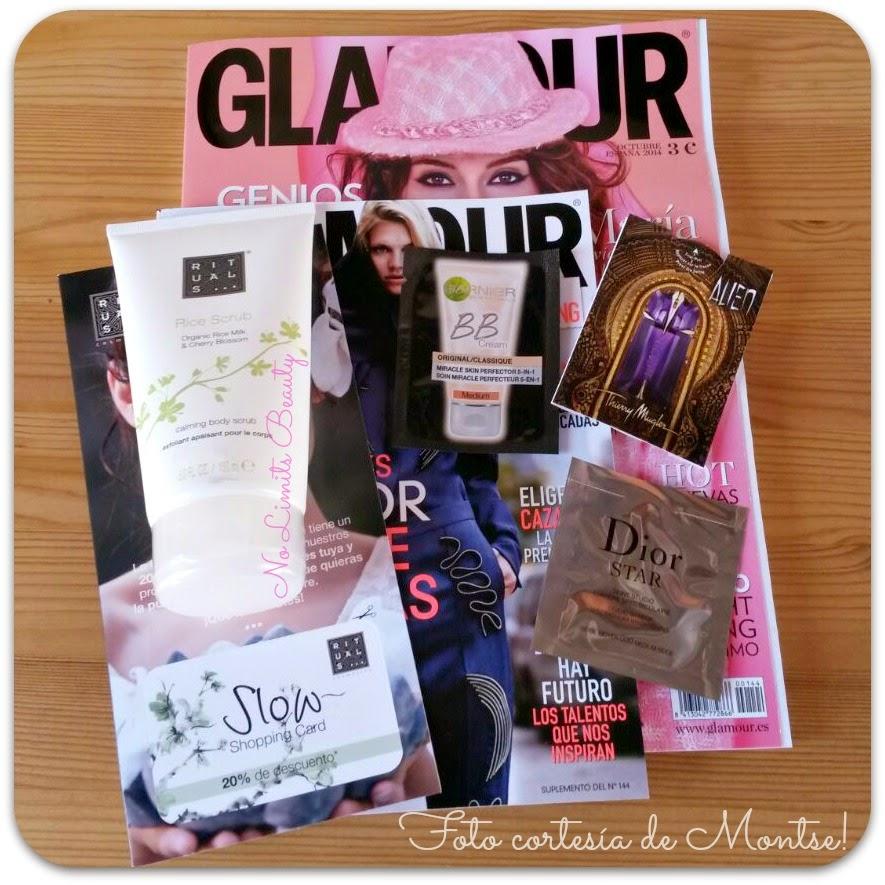 Regalos revistas Octubre 2014: Glamour