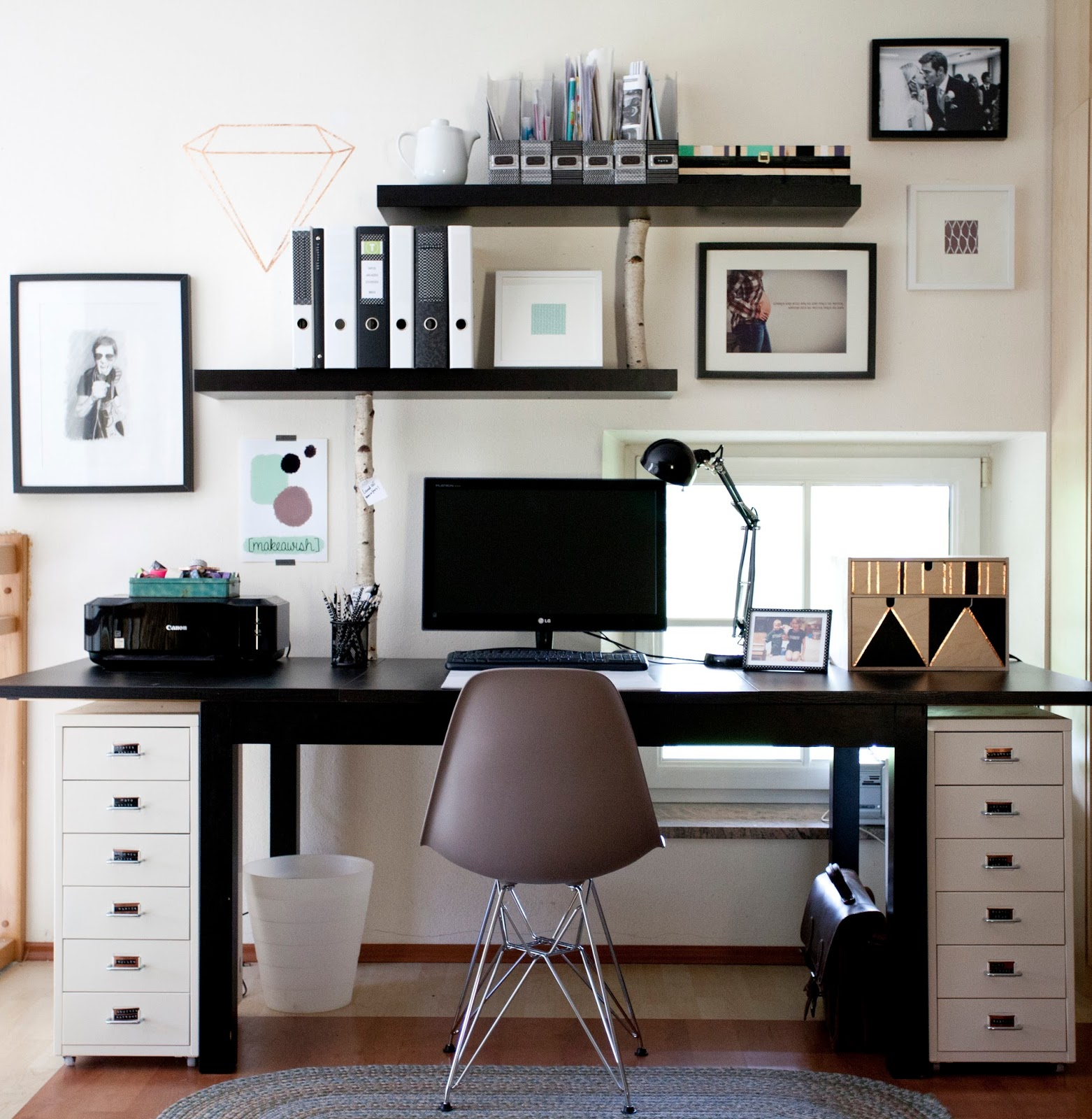 mega diy mein neuer arbeitsplatz wohn projekt. Black Bedroom Furniture Sets. Home Design Ideas