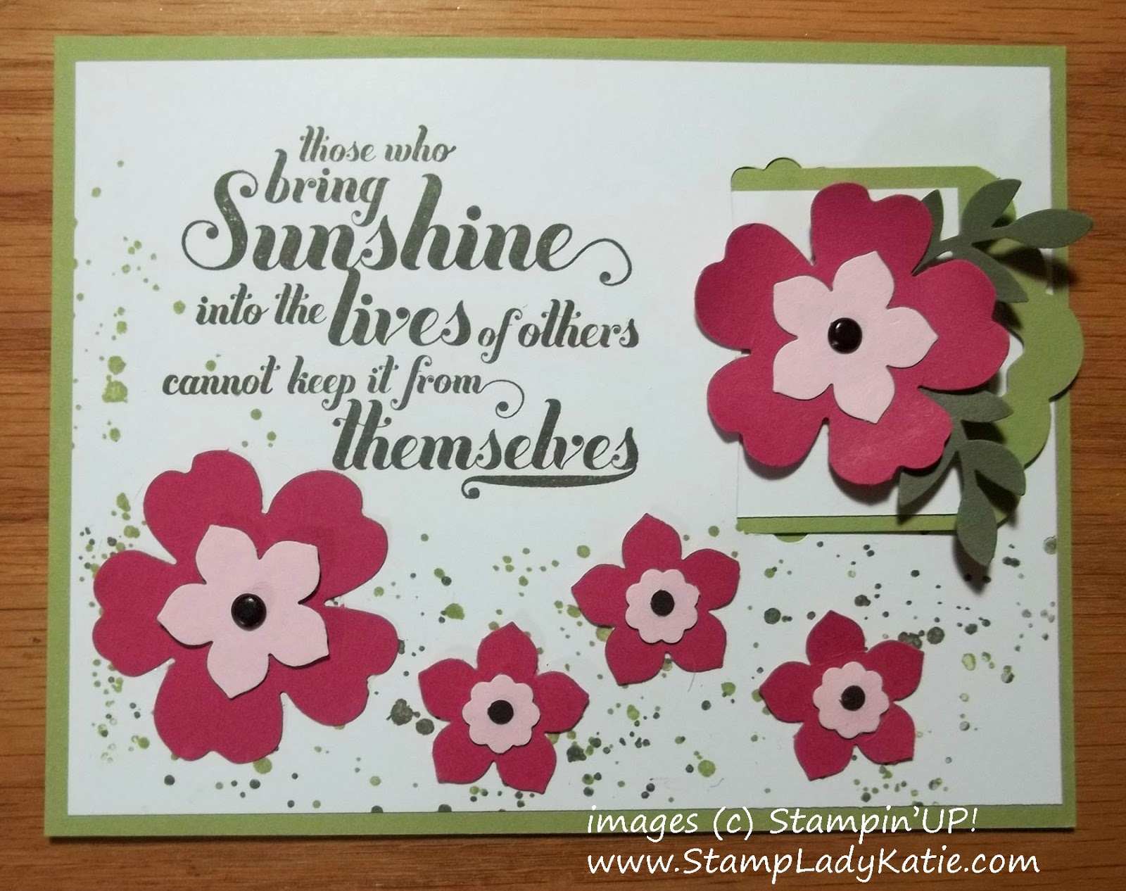a Bookmark Card made with Stampin'UP! Punches