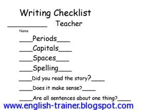 essay writing checklist teachers