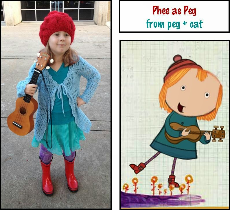 Peg plus Cat costume ~ Life in Random Bits #halloween #costume #diy