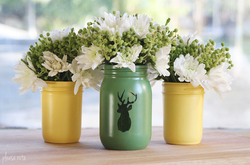 Please Note Diy Mason Jar Vases