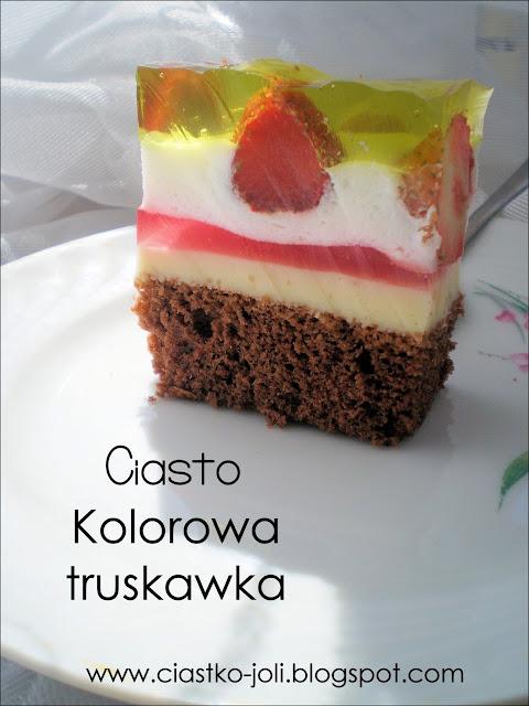 Ciasto Kolorowa truskawka