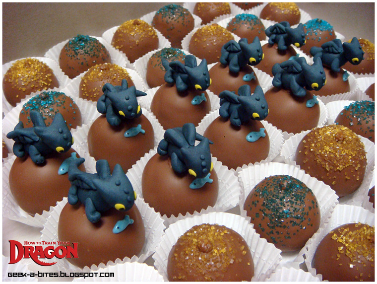 How To Make Toothless Cake Pops