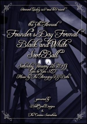 The 5th Annual Founder&#39;s Day Formal Black and White Soot Ball