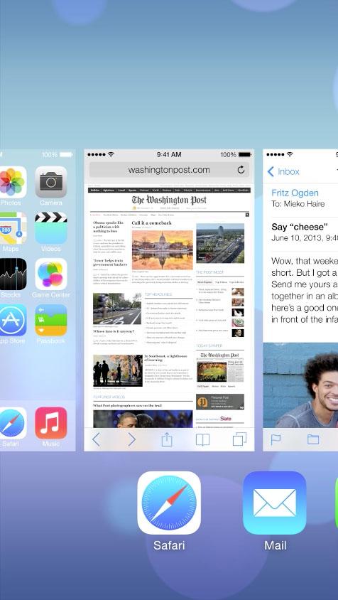 Multitasking on iOS 7