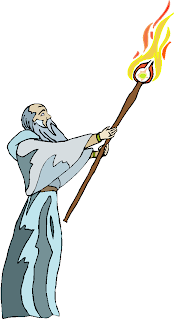 Old Man Carry The Torch Free Clipart