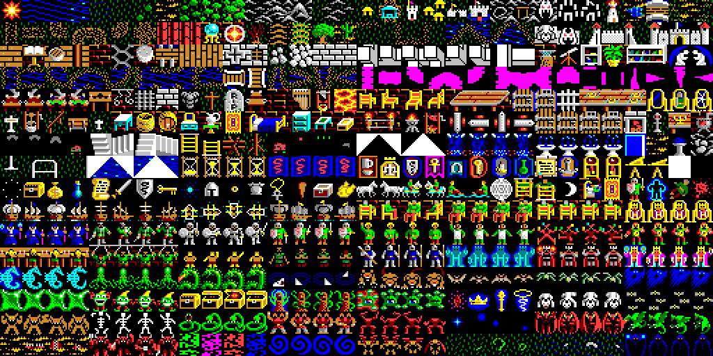 8 Bit City Ultima V Warriors Of Destiny Tileset