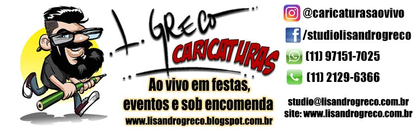 Caricaturas Lisandro Greco, caricaturas ao vivo, caricaturas online, caricaturista, caricaturistas