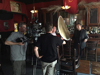 Eric Ferrara filming a documentary about the former Ravenite Social Club in Little Italy