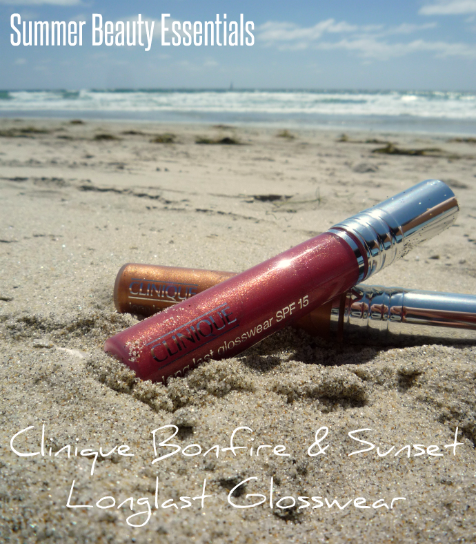 Clinique Long Last Glosswear in Bonfire & Sunset on the beach
