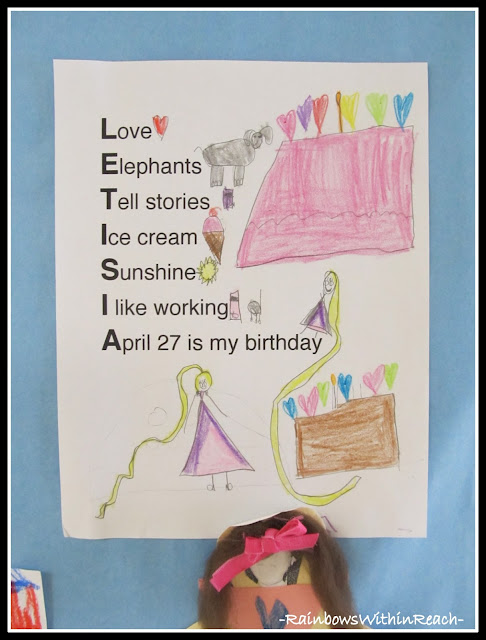 photo of: Acrostic Poetry in Kindergarten using Student's First Name