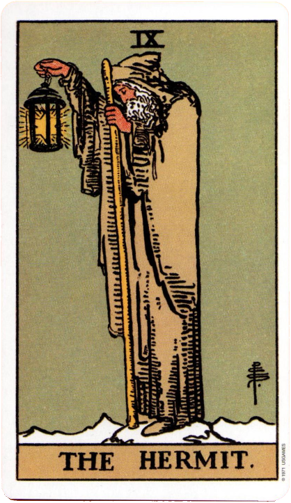 Original Rider Waite Tarot, The Hermit
