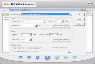 برنامج تحويل الفيديو للموبايل download raize 3gp video converter