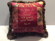 Phil 4:7 - burgundy/sage/gold tapestry