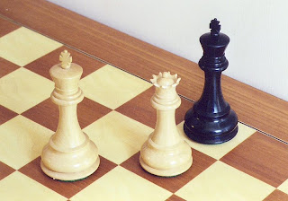 The black king is checkmated; the game is over.