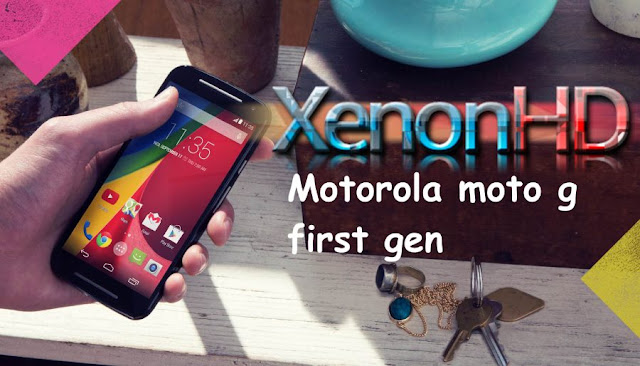 Xenonhd custom rom on Moto g 1st gen falcon xt-1033