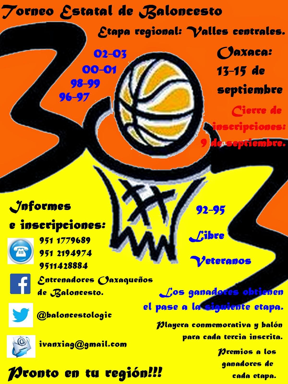 Torneo estatal 3x3. Oaxaca.