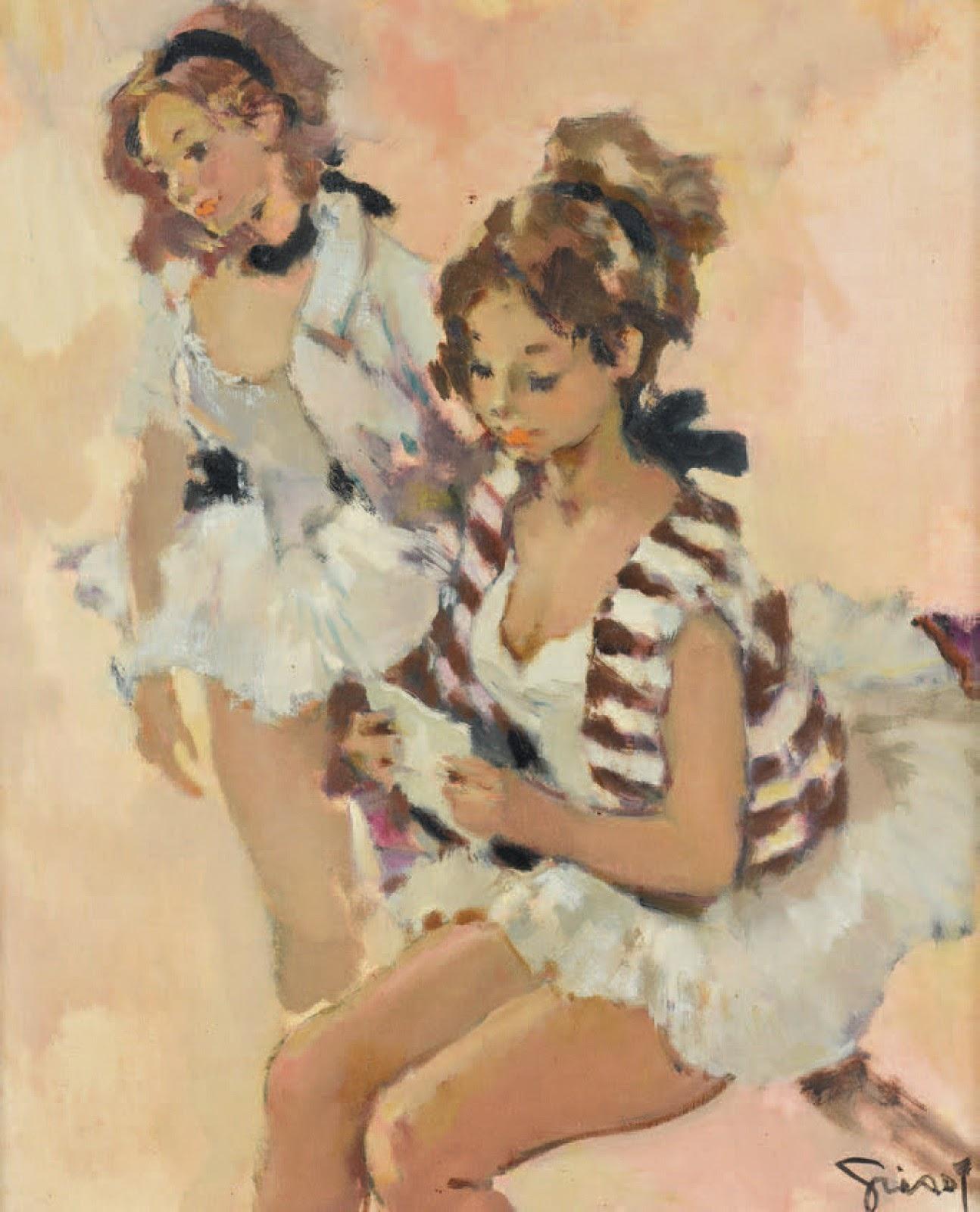 Pierre Grisot Deux danseuses
