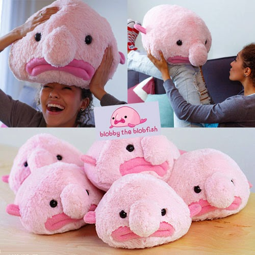 Blobby the blobfish plush from hashtag collectibles for Fish stuffed animals