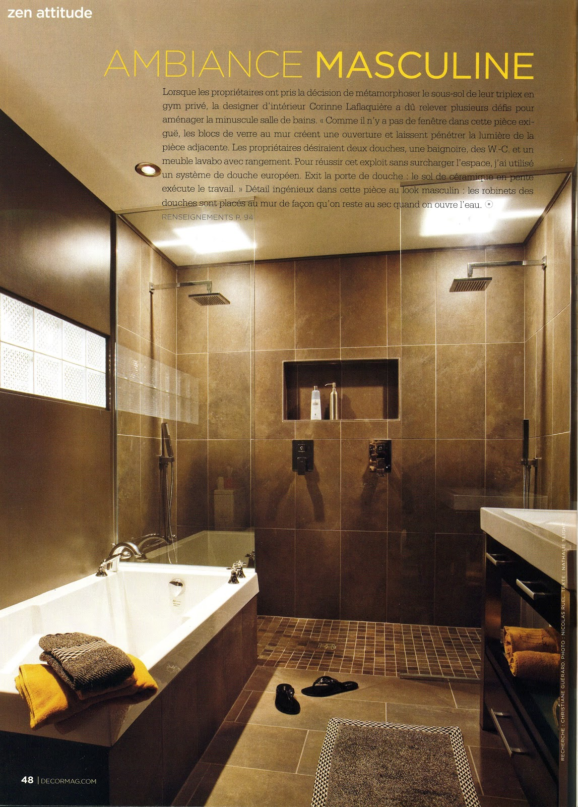 Corinne laflaqui re design for Decormag salle de bain