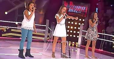 Kamy, Sara y Carmen  La voz kids