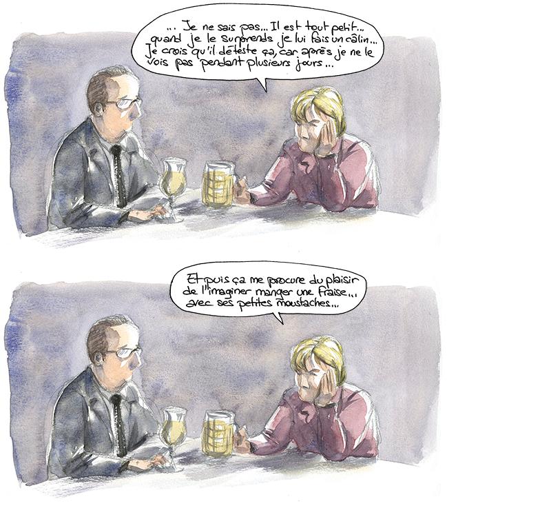 Hollande et Merkel, cosmogonie Achuar