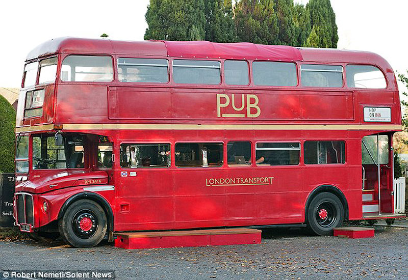 Pix Grove Pub In Double Decker Bus