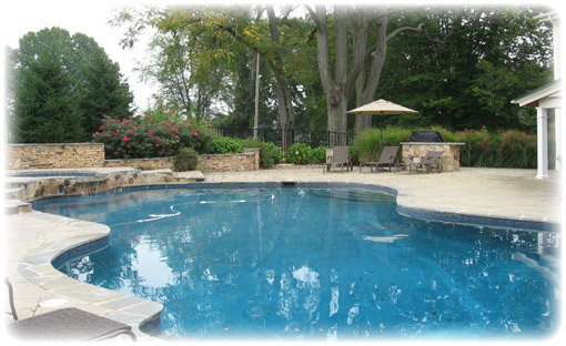 Backyard Swimming Pool Landscaping Ideas : luxury backyard swimming pool ideas Backyard Pool Ideas