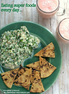 egg scramble with garlic chives and sorghum flour pita bread recipe   desi super foods for everyday