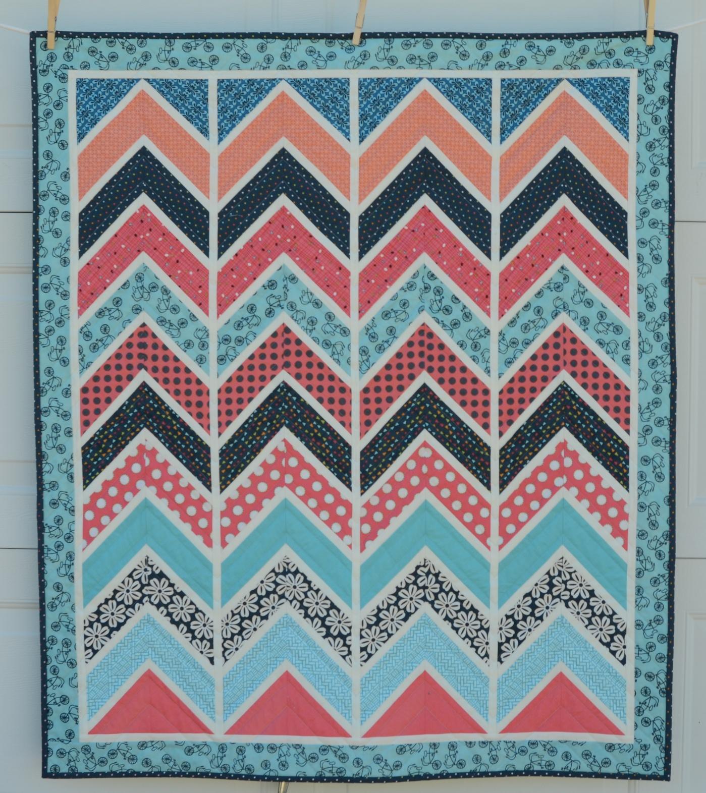 Hyacinth Quilt Designs: Chevron - Part 1 : chevron quilt pattern free - Adamdwight.com
