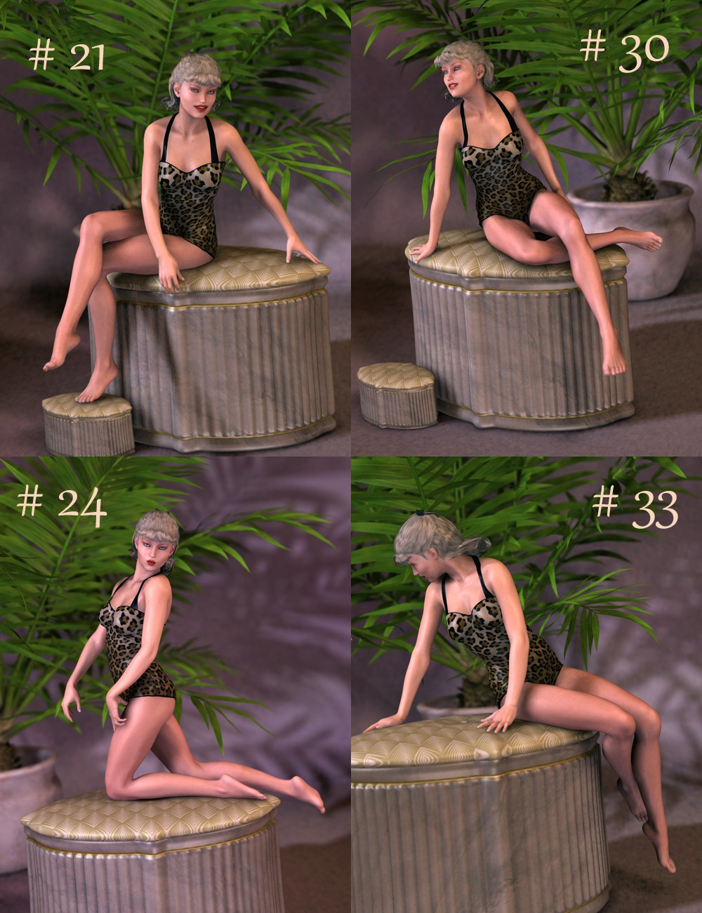 Classic Pin-Up Sitting Poses for Victoria 6