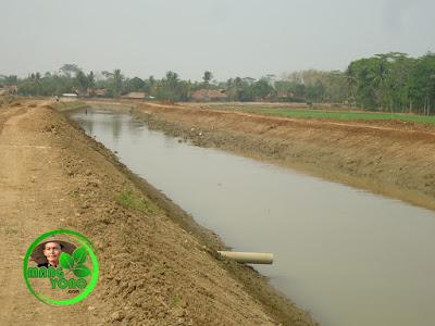 FOTO 3b - Sungai Ciasem sesudah dikeruk ... Lokasi di dekat sawah admin