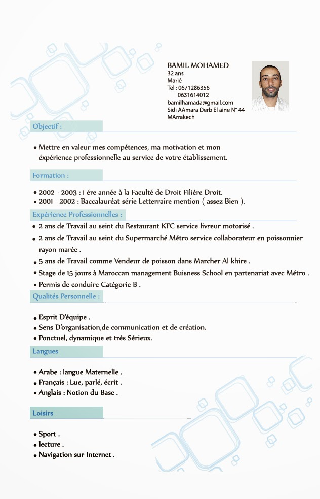 comment faire un cv  curriculum vitae exemples multiservices