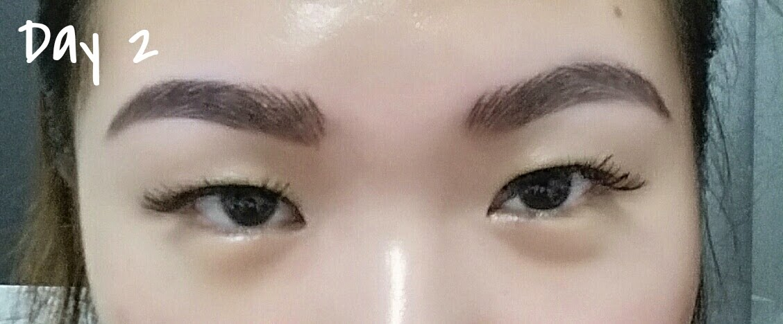 Eyebrow embroidery healing process for 1 salon eyebrow embroidery