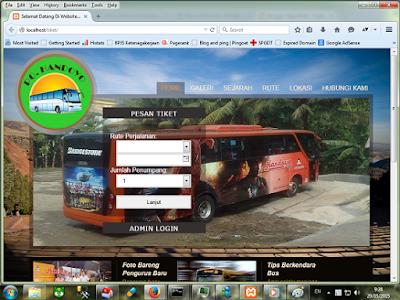 Sistem Informasi Pemesanan Tiket Bus Berbasis Web