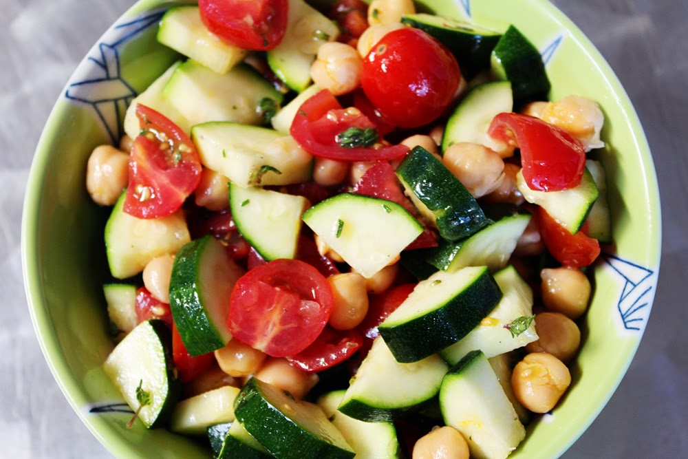 more summer salad cucumber zucchini and tomato salad the roaming ...