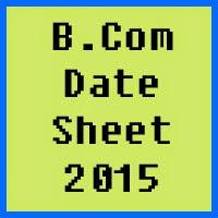 University of Karachi UOK BCom Date Sheet 2016 Part 1 and Part 2