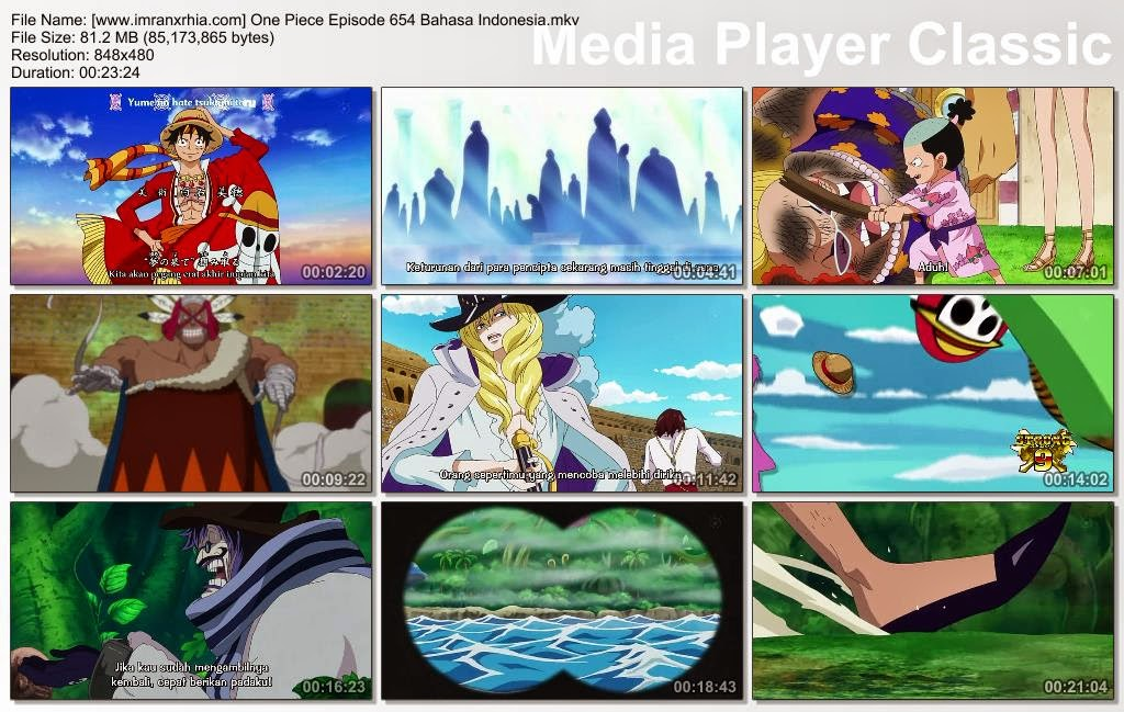 Download Film One Piece Episode 654 (Pedang yang Indah! Cavendish Si Kuda Putih!) Bahasa Indonesia