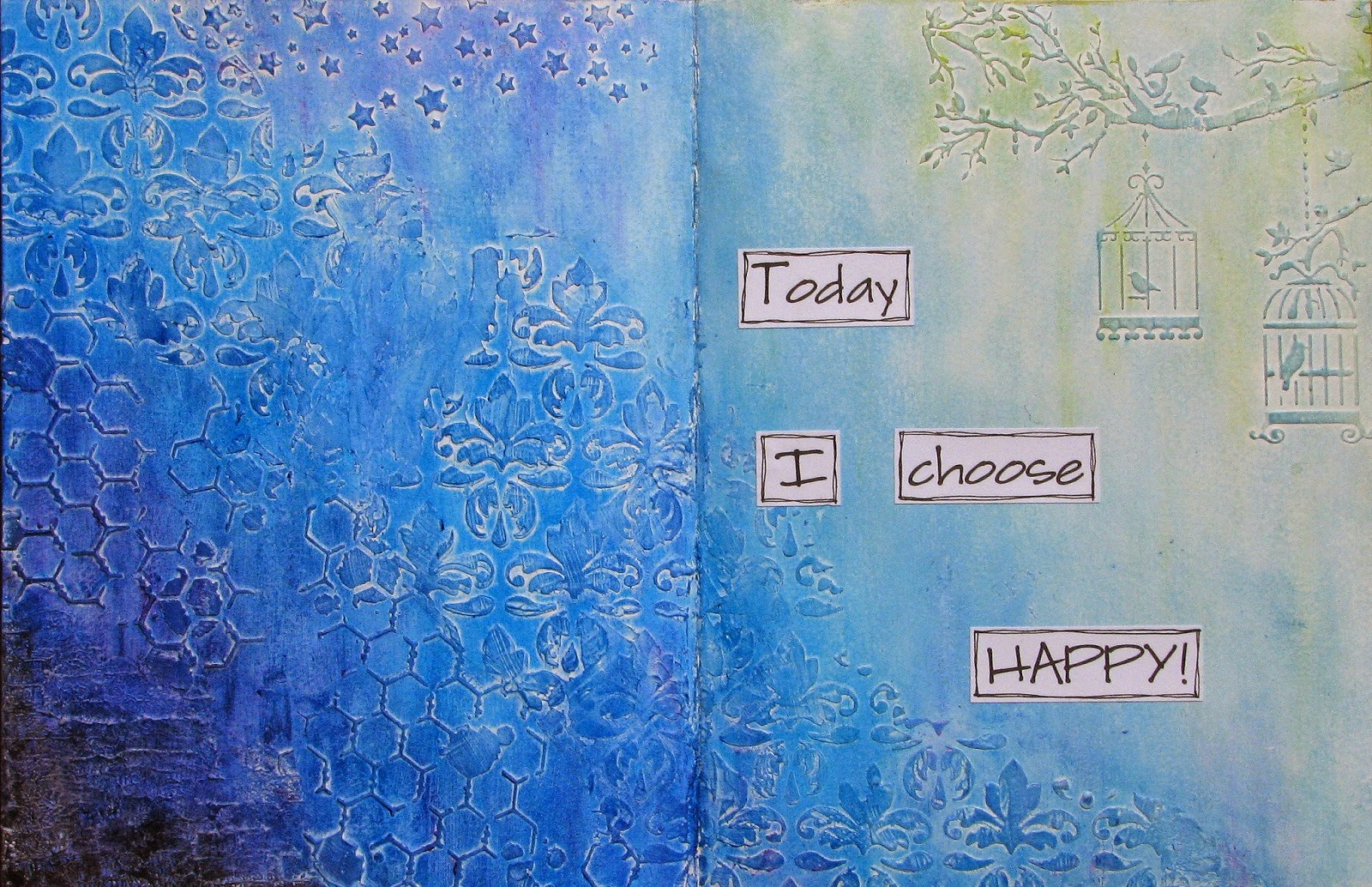Scrap Savvy Creations: Having the Freedom to Choose - Art Journal Page