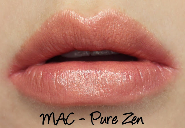 MAC Enchanted Eve - Coral Lip Palette Pure Zen Swatches & Review