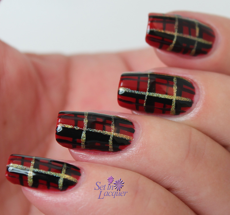 Holiday or any day plaid nail art set in lacquer plaid nail art prinsesfo Choice Image