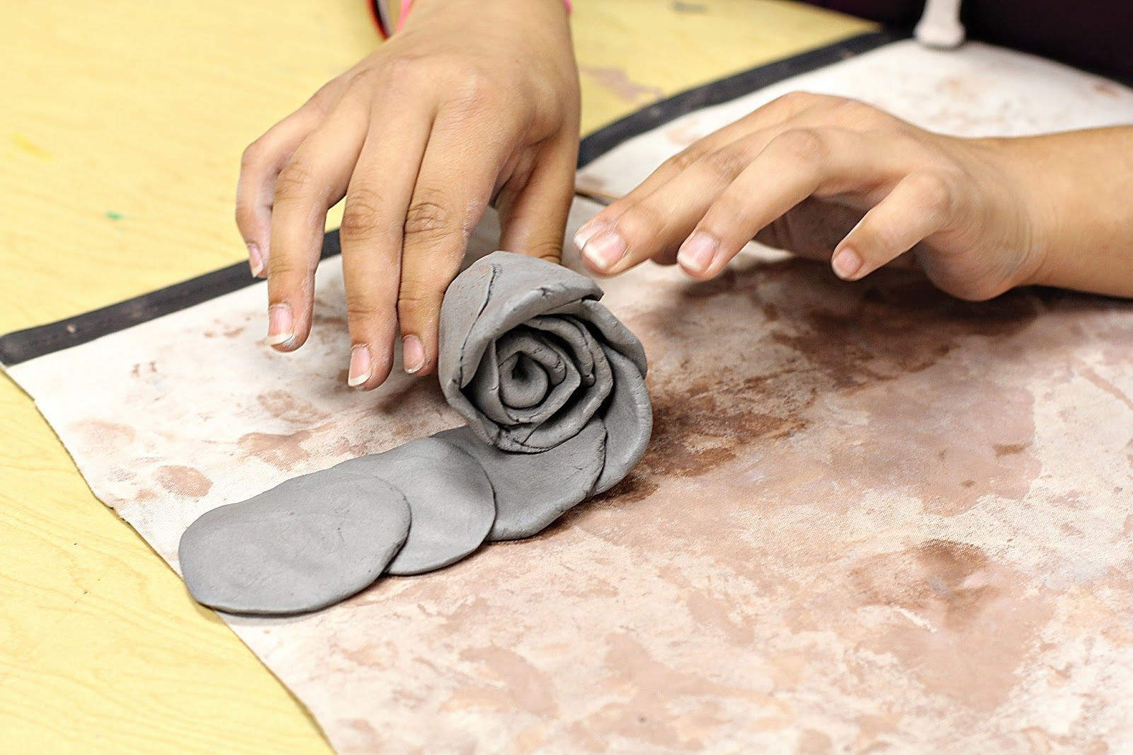 smart class clay roses for mother 39 s day