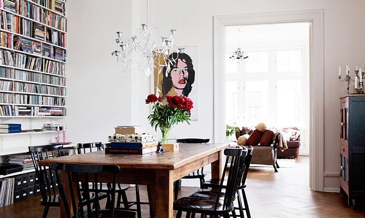 Interior Envy Nina Persson's Malmö Apartment Dining Area