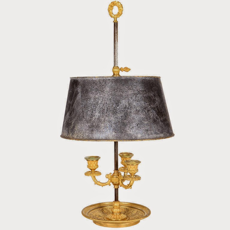 A bouillotte lamp in gilt bronze made in paris circa 1810 currently available at the stockholm antiques dealer polstjernan via 1st dibs