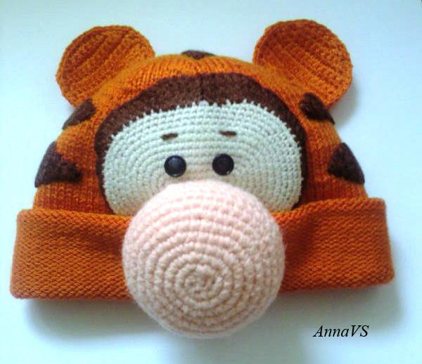 Шапка вязание крючком для малышей