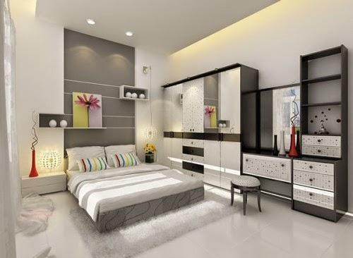 Những gam màu nhẹ trong trang trí nội thất phòng ngủ hiện đại